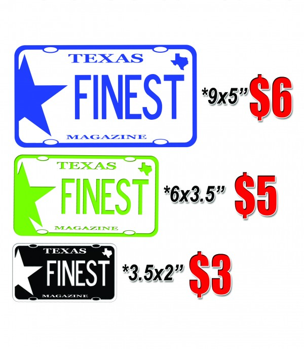 Texas Finest Magazine Stickers – Decals