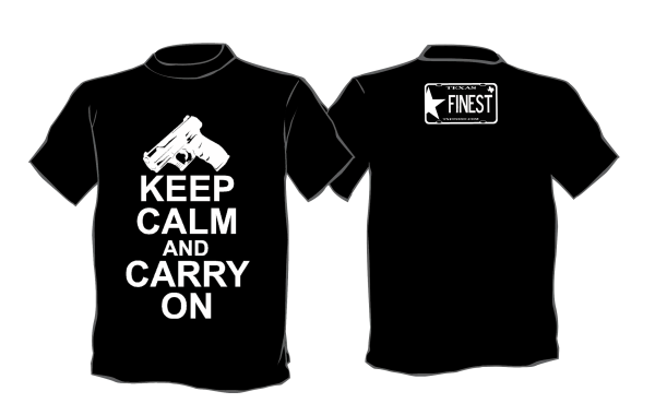 Keep Calm and Carry On Pistol Shirt