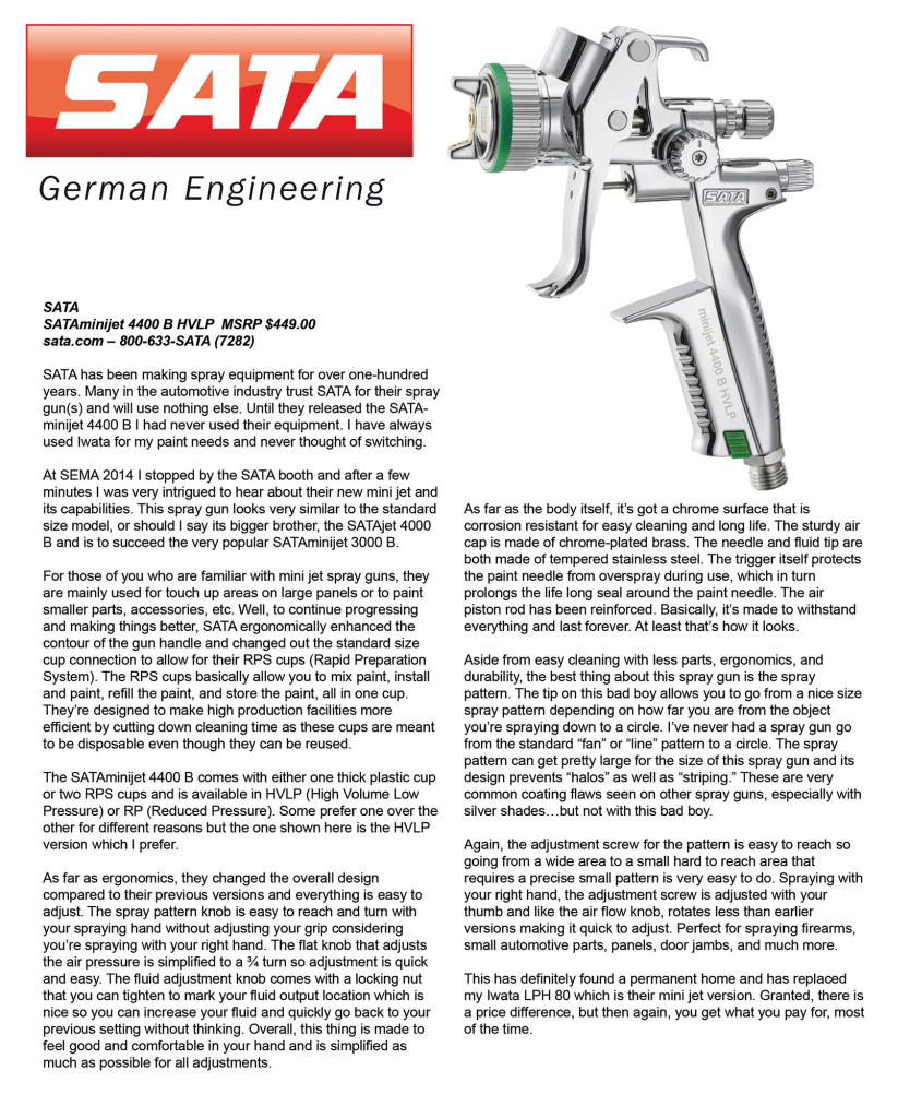 Sata Review Summer 2015 Issue