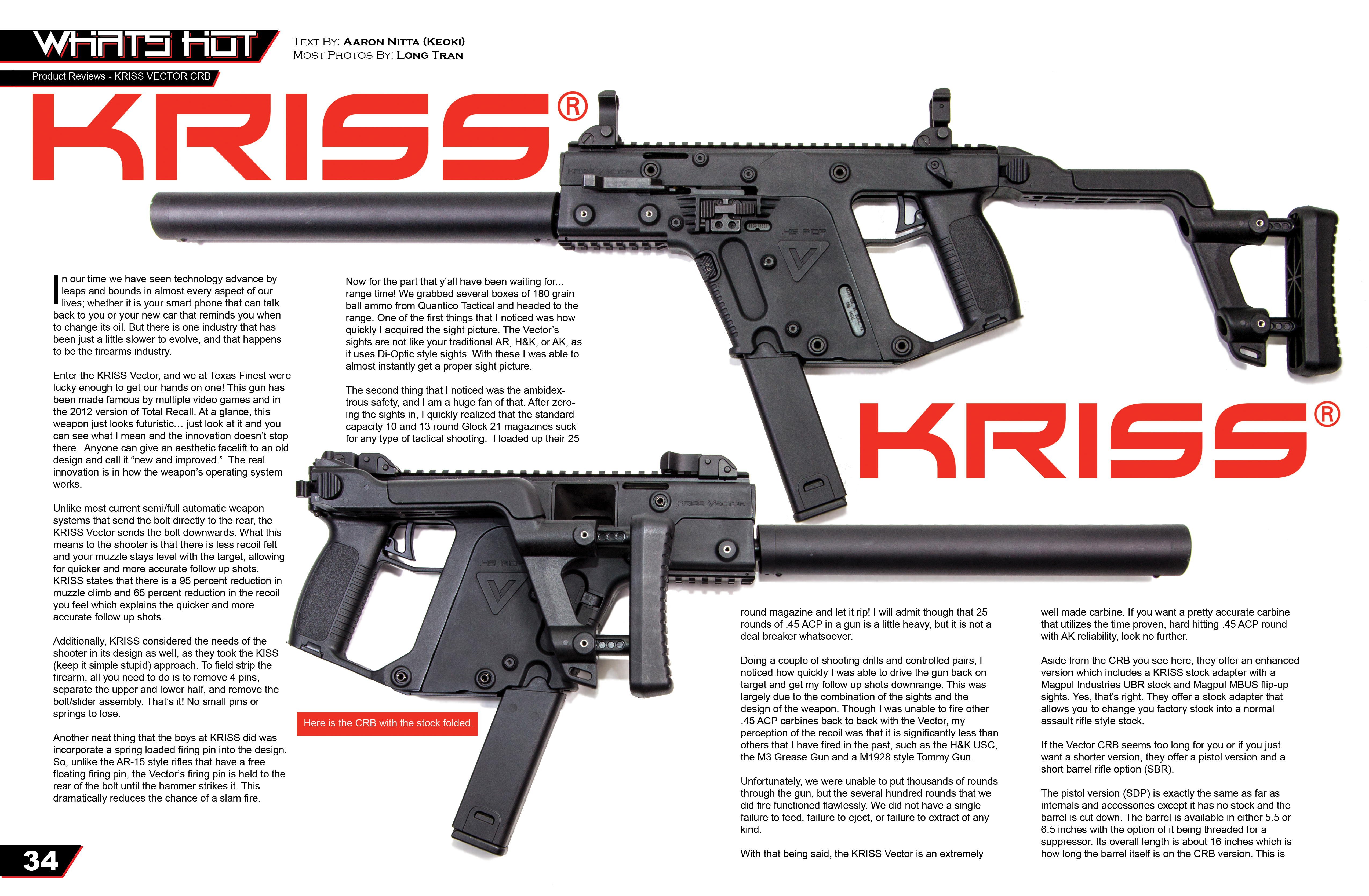 KRISS USA VECTOR Product Review